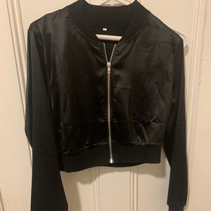 SHEIN Black Cropped Jacket